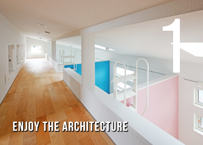 1 Enjoy the architecture.